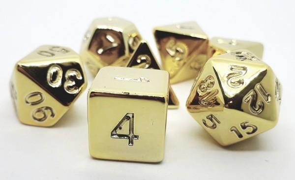 Würfelset: Shiny Gold (7)