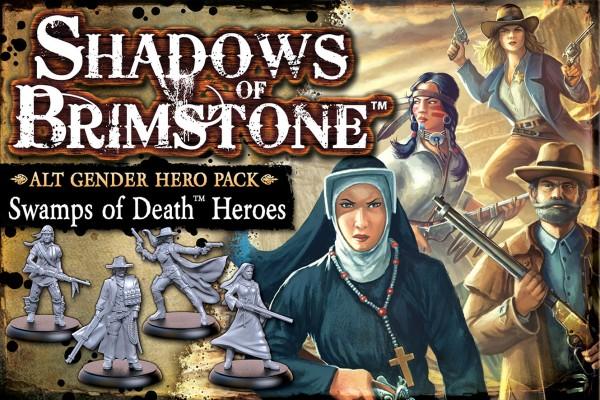 Shadows of Brimstone: Alt Gender Hero Pack – Swamps of Death Heroes [Expansion]