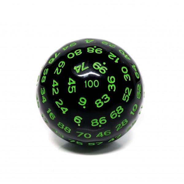 Würfel D100 Black/Green