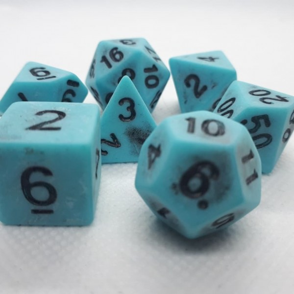 Würfelset Antique: Blue (7)
