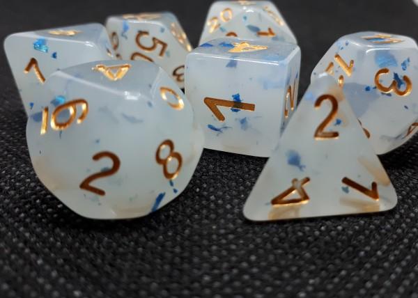 Würfelset Creamy: Spot Blue (7)