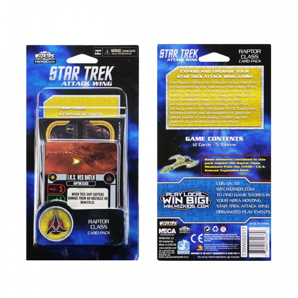Star Trek: Attack Wing Raptor Class Card Pack