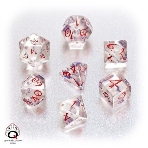 Classic RPG Dice Transparent Blue/Red (7)