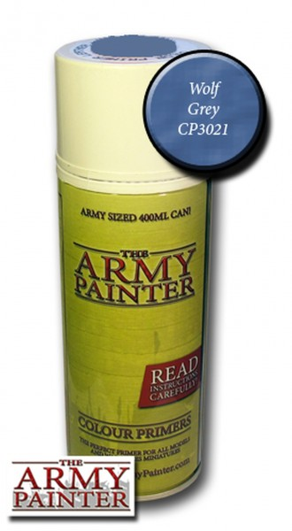 Army Painter Primer: Wolf Grey (400ml)