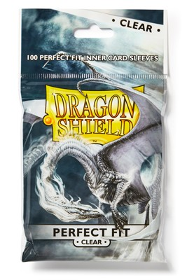 Dragon Shield: Perfect Fit Inner Sleeves – Clear/Clear (100)