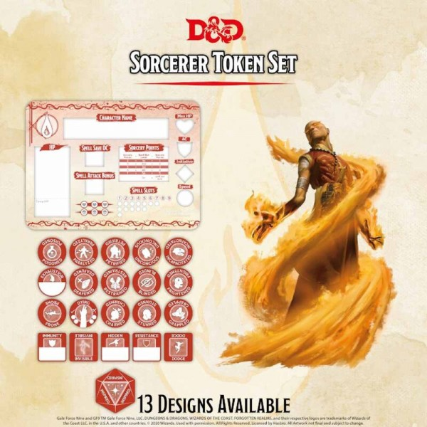 Dungeon & Dragons: Socerer Token Set