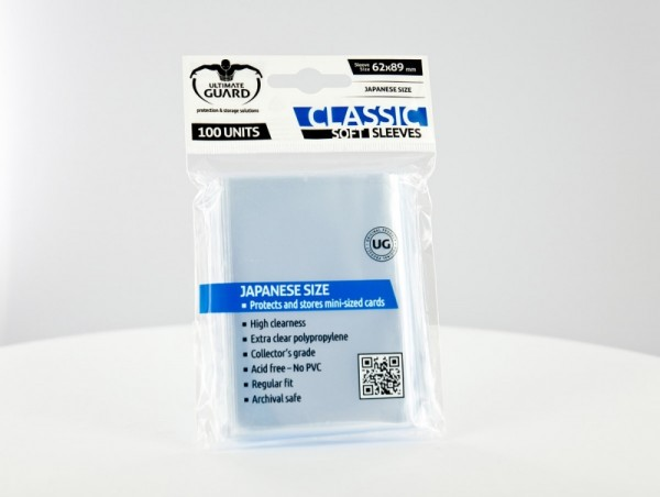 Ultimate Guard: Japanes Classic Soft Sleeves - Clear (100)