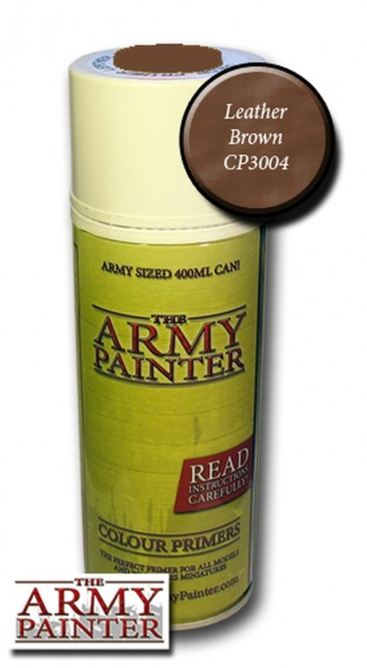 Army Painter Primer: Leather Brown Spray (400ml)