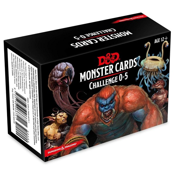 Dungeons & Dragons: Monster Cards, Challenge 0-5 (179 Cards)