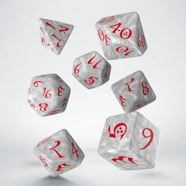 Classic RPG Dice Pearl/Red (7)