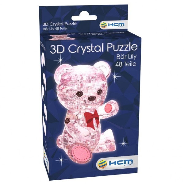 Crystal Puzzle: Bär Lily Rosa (48 Teile)
