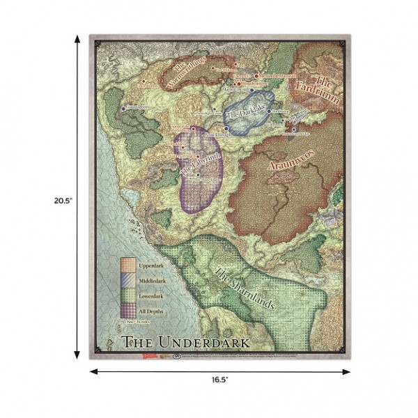 D&D: Out of the Abyss Vinyl Map Set