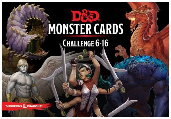 Dungeons & Dragons: Monster Cards, Challenge 6-16 (74 Cards)
