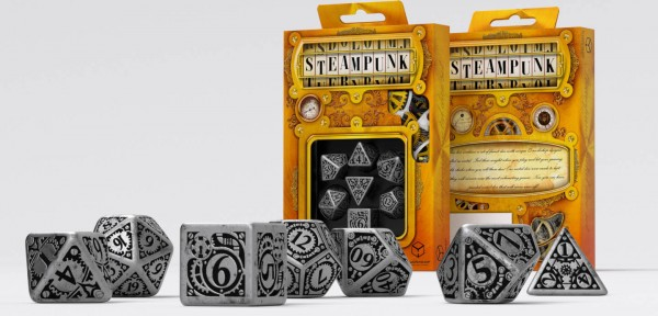 Metall Steampunk Dice Set (7)