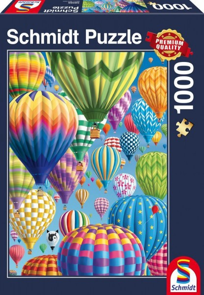 Puzzle: Bunte Ballone im Himmel (1000 Teile)