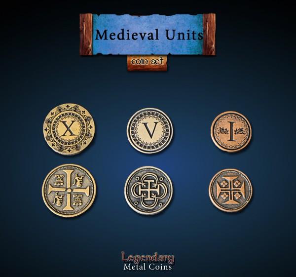 Medieval Units Coin Set (24 Stück)