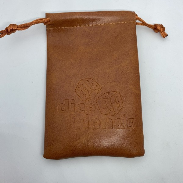 Würfelbeutel: PU-Leather-Bag Brown