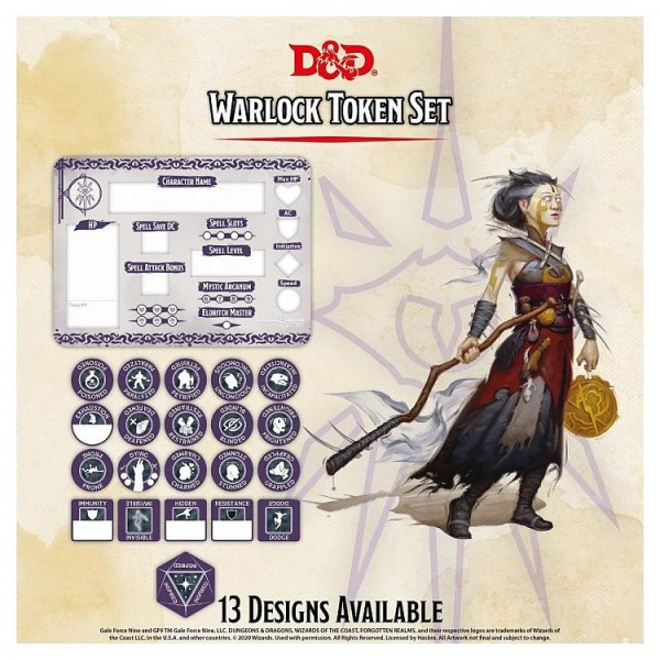 Dungeon & Dragons: Warlock Token Set