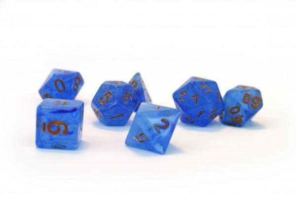 Würfelset Frost: Blue Lagoon (7)