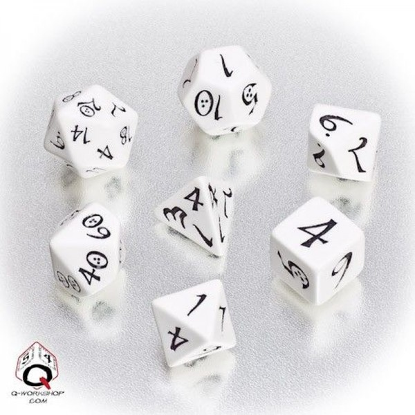 Classic RPG Dice White/Black (7)