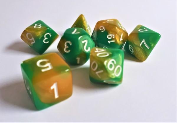 Würfelset: Green Samba (7)
