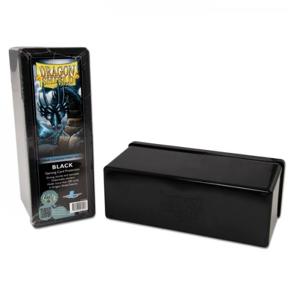 Dragon Shield: Gaming Box 4 Compartments - Black