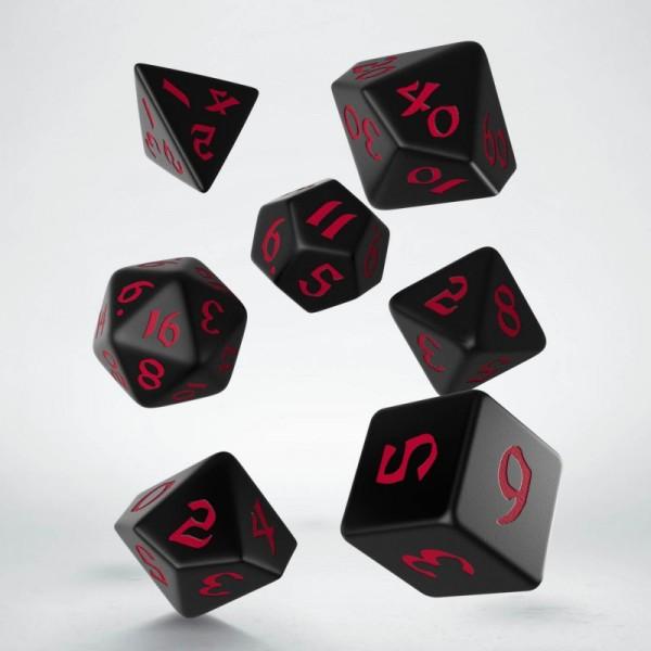 Classic Runic Black/Red Dice Set (7)