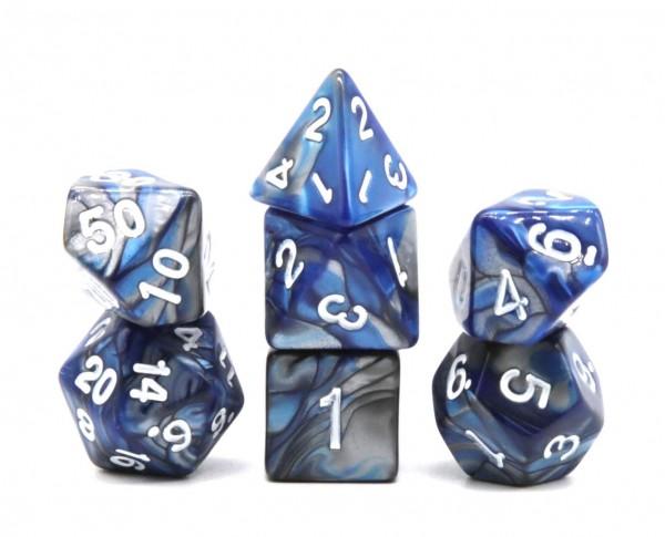 Würfelset Confetti: Racing Blue (7)
