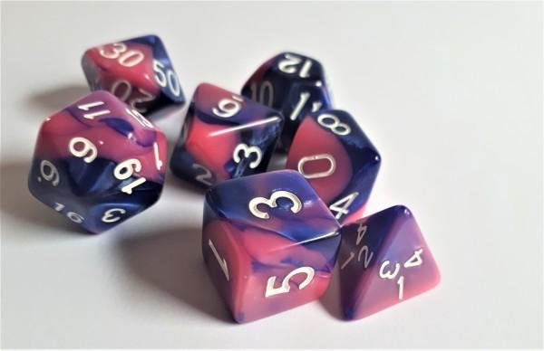 Würfelset: Pink Galaxy (7)