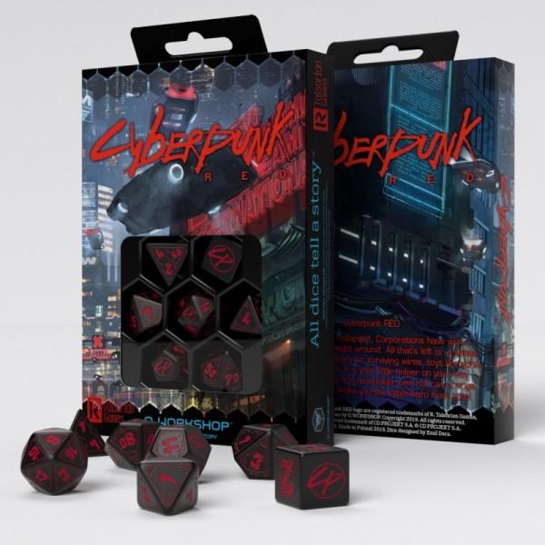 Cyberpunk RPG Red Dice Set (7)