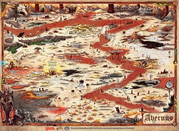 D&D: Descent into Avernus - Map (23' x 15')