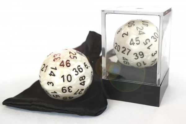 Dice-Up D50 in Acrylbox + Satinbag - Perlmutt