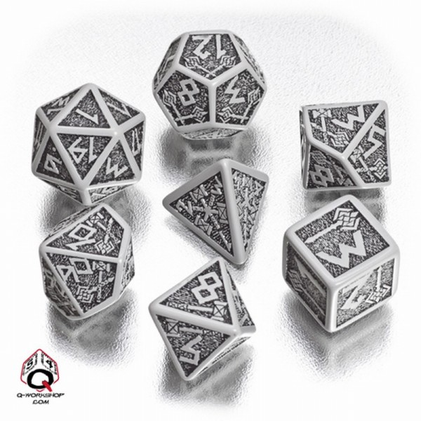 Dwarven Dice Gray/Black (7)