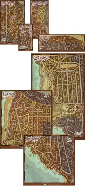 D&D: Waterdeep Dragon Heist Map Set