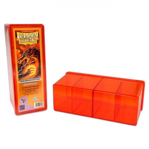 Dragon Shield: Gaming Box 4 Compartments – Orange