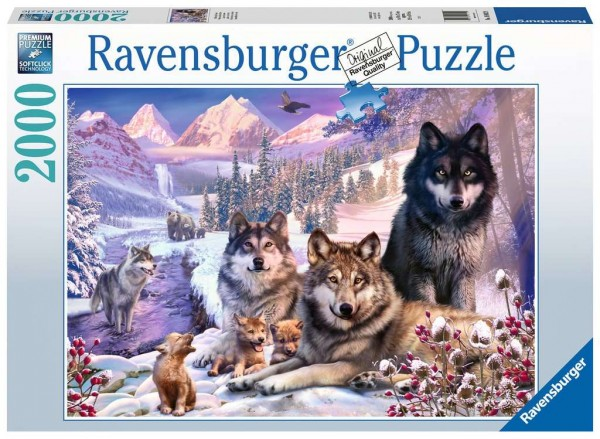 Puzzle: Wölfe im Schnee (2000 Teile)