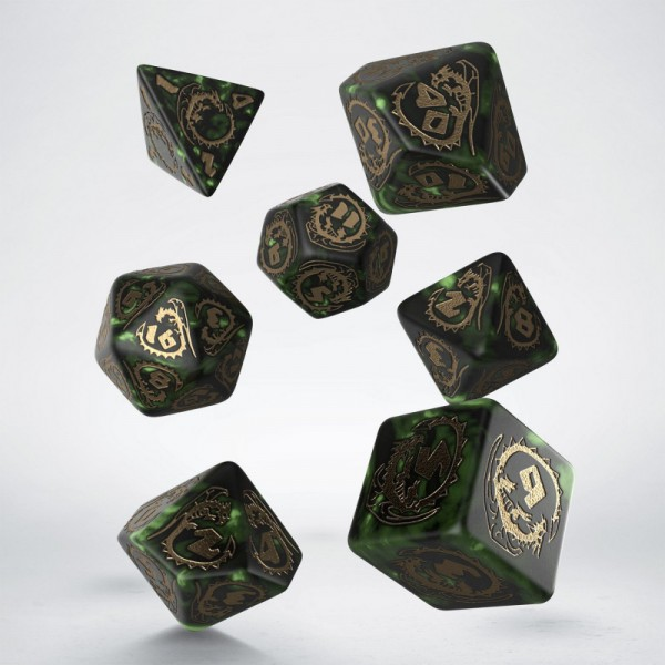 Dragon Dice Bottle-Green/Gold (7)