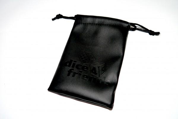 Würfelbeutel: PU-Leather-Bag Black