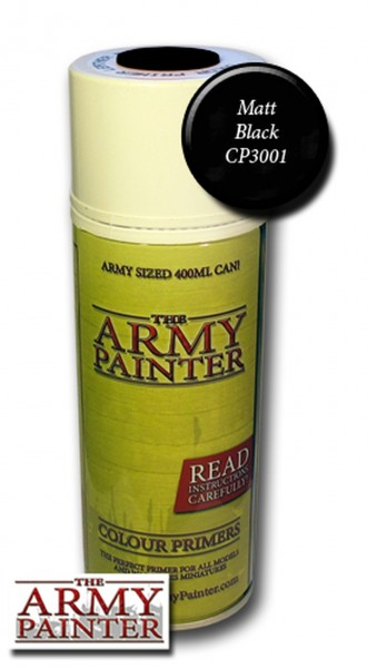 Army Painter - Base Primer - Matt Black Spray (400ml)