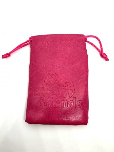 Würfelbeutel: PU-Leather-Bag Pink