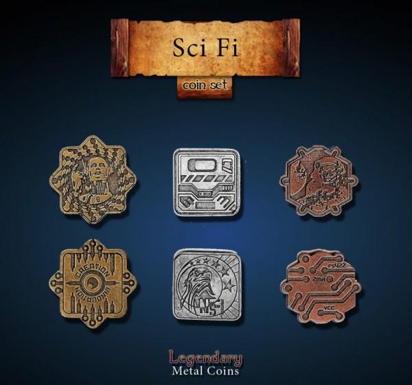 Sci Fi Coin Set (24 Stück)