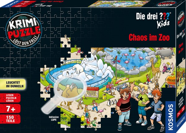 Krimipuzzle: ??? Kids – Chaos im Zoo (150 Teile)