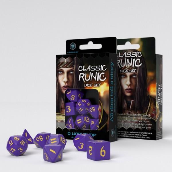 Classic Runic Purple/Yellow Dice Set (7)