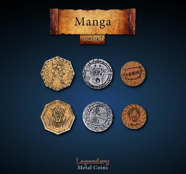 Manga Coin Set (24 Stück)