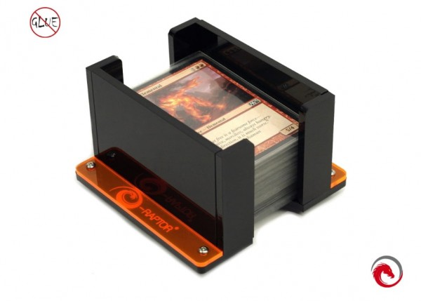 Board Game Card Holders: Card Holder - 1L Solid (Black)