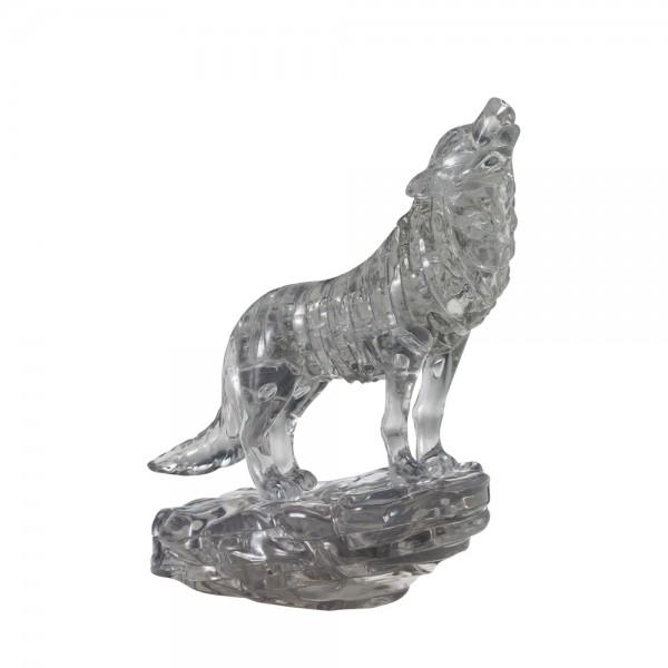 Crystal Puzzle: Wolf - schwarz
