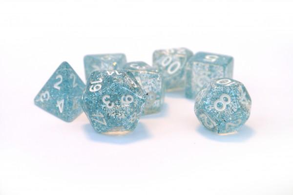 Würfelset Confetti: Blue (7)