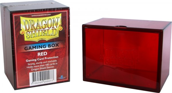 Dragon Shield: Gaming Box - Strong Box 100+: Red