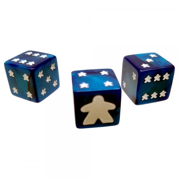 Meeple D6 Dice Set (Blue)