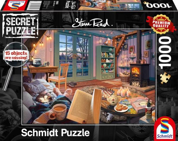 Puzzle: Im Ferienhaus - Secret Puzzle (1000 Teile)